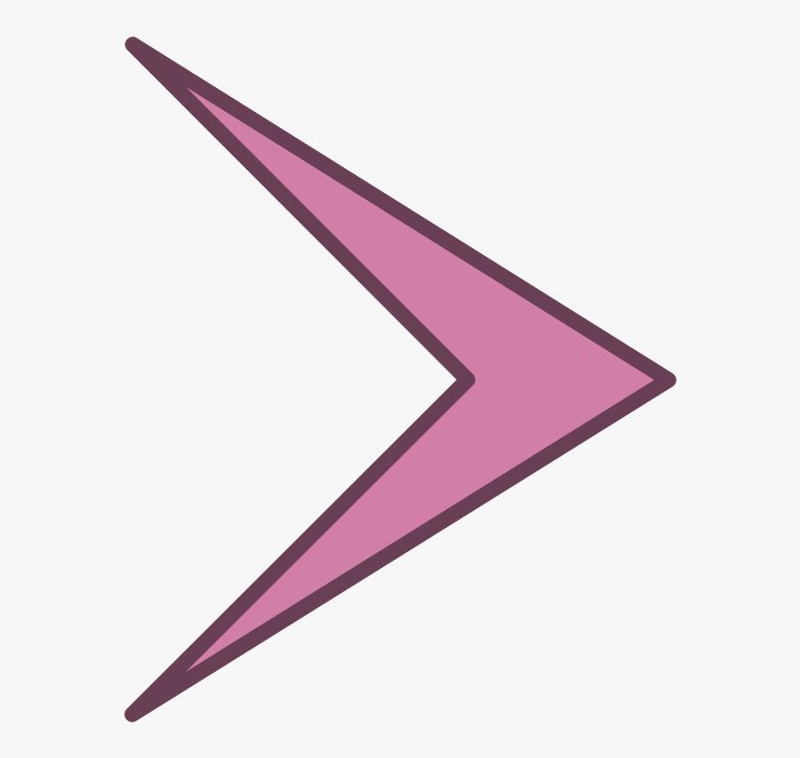 Purple,angle,line - Shape That Looks Like An Arrow, Transparent Clipart