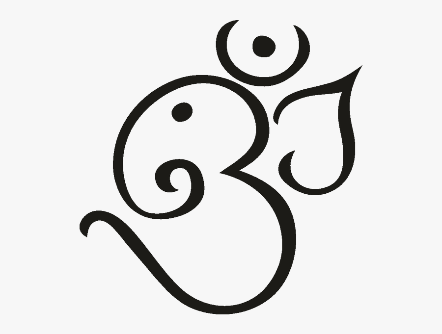 Ganesha Om Tattoo Hinduism Symbol - Om With Ganesh Tattoo Design, Transparent Clipart