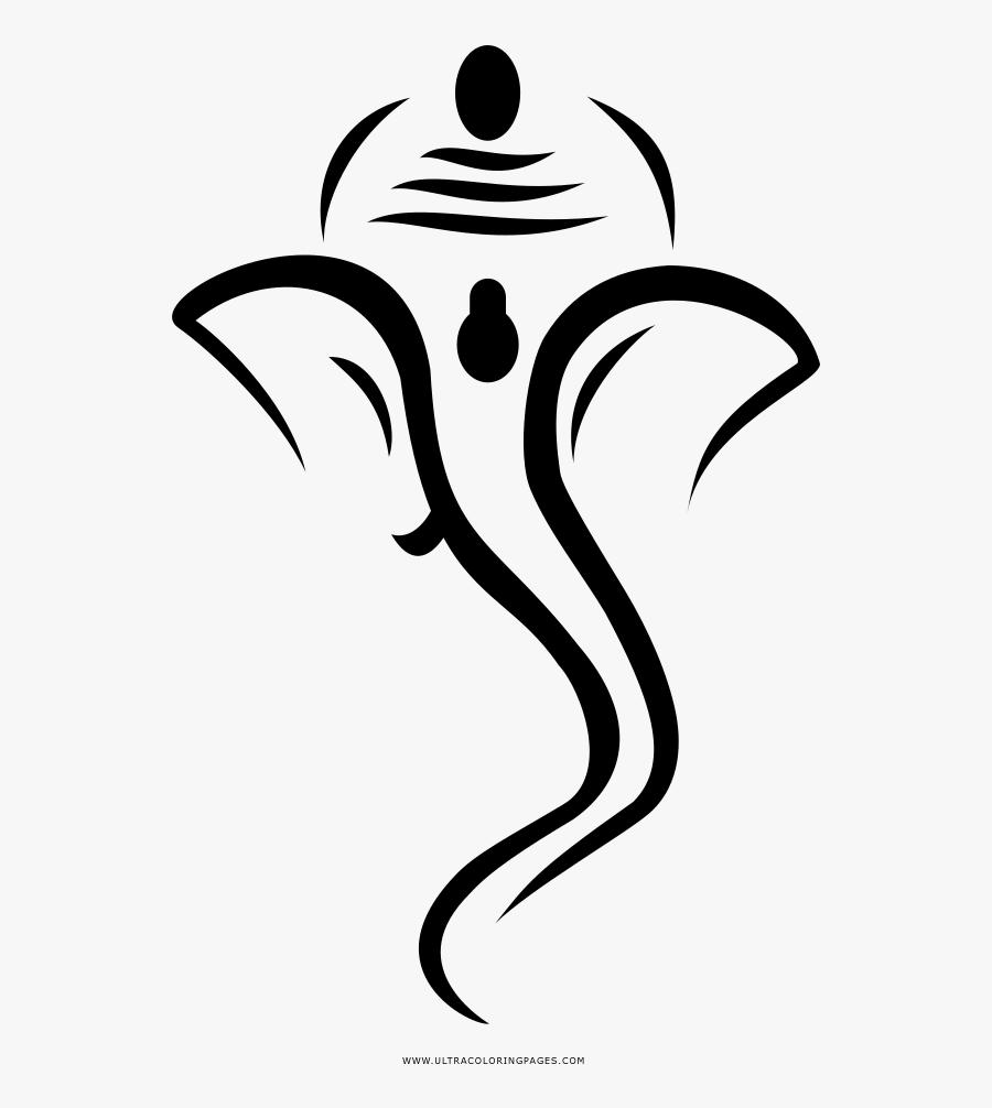 Ganesha Coloring Page - Sbi Life Ganesh Chaturthi, Transparent Clipart