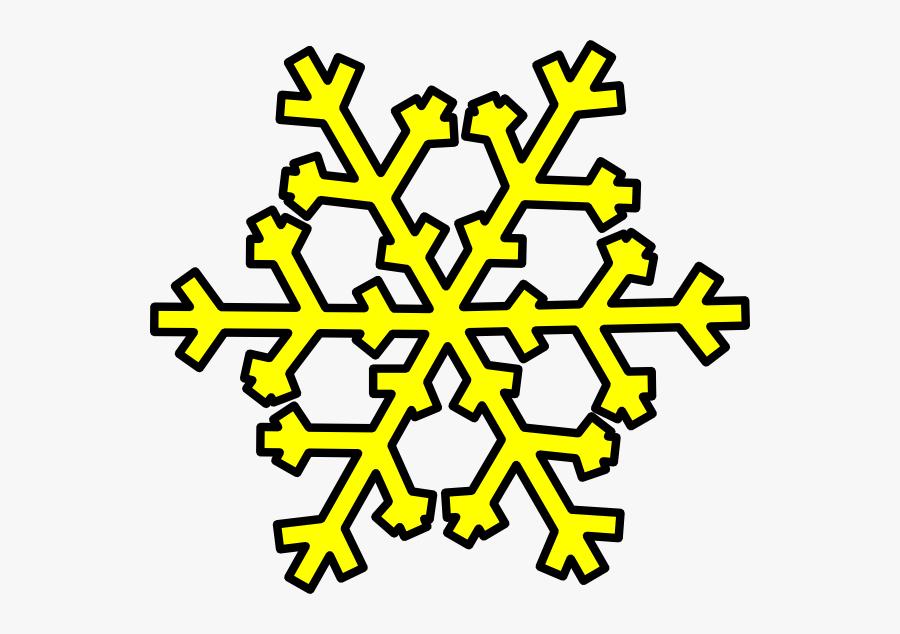 Snowflake Clip Art At - Weather Symbols Snow, Transparent Clipart