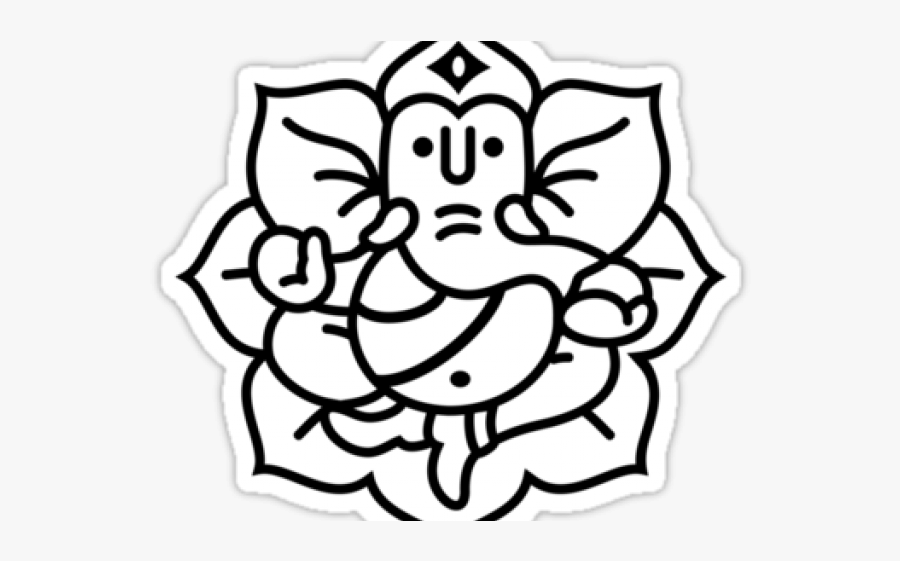 Ganesh Outline Easy Ganesh Drawing Free Transparent Clipart Clipartkey
