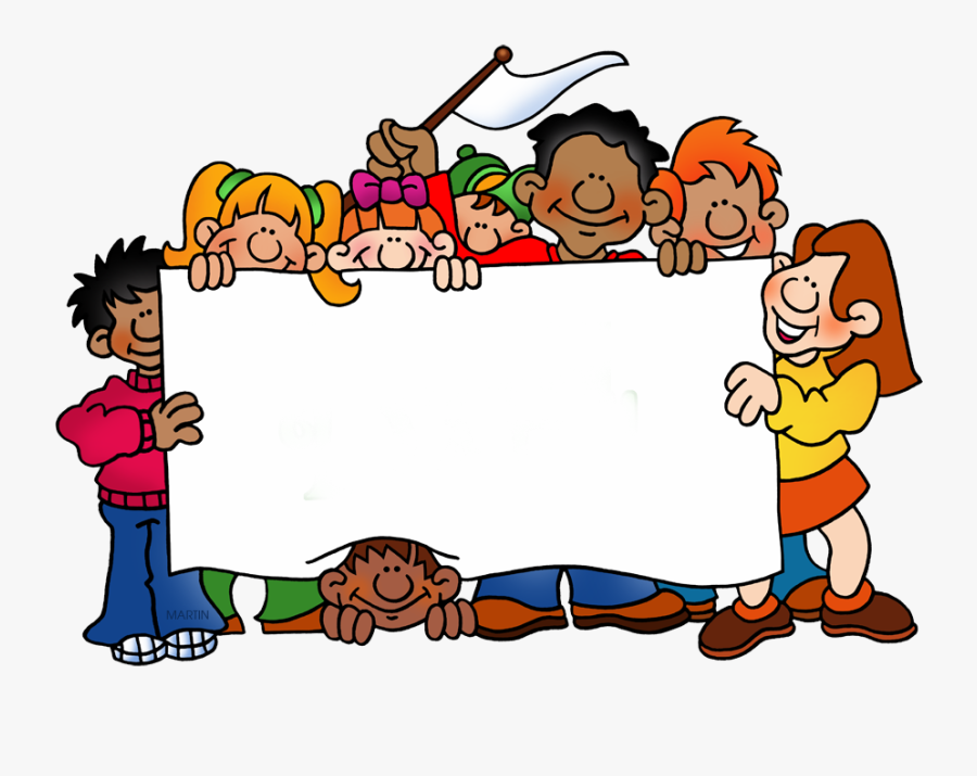 Gang With Blank Poster - Happy Summer Vacation For Kids, Transparent Clipart