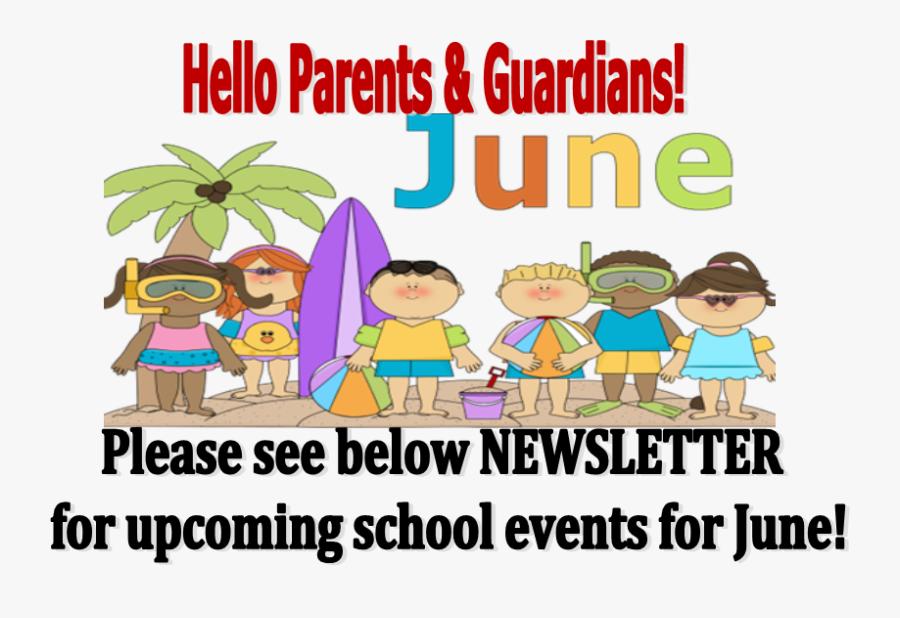 June Mcadam Elementary School - School Beach Day Cartoon, Transparent Clipart