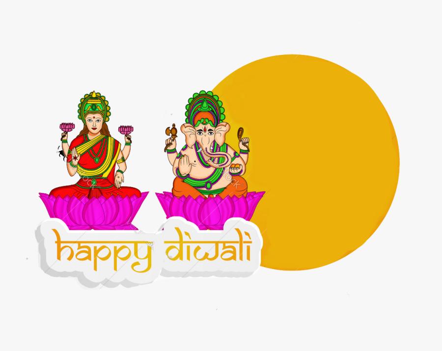 Transparent Lakshmi Clipart - Laxmi Ganesh Vector, Transparent Clipart