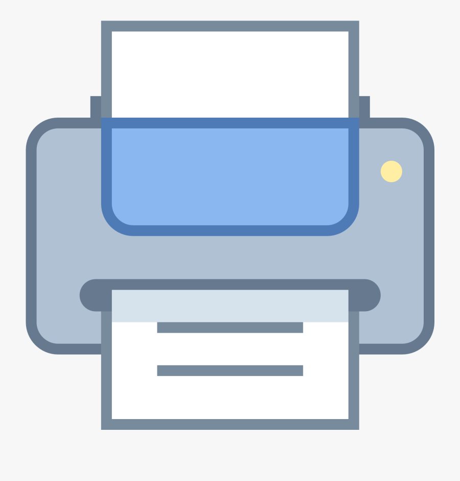Computer Printer Png Free Download - Print Icon In Word, Transparent Clipart