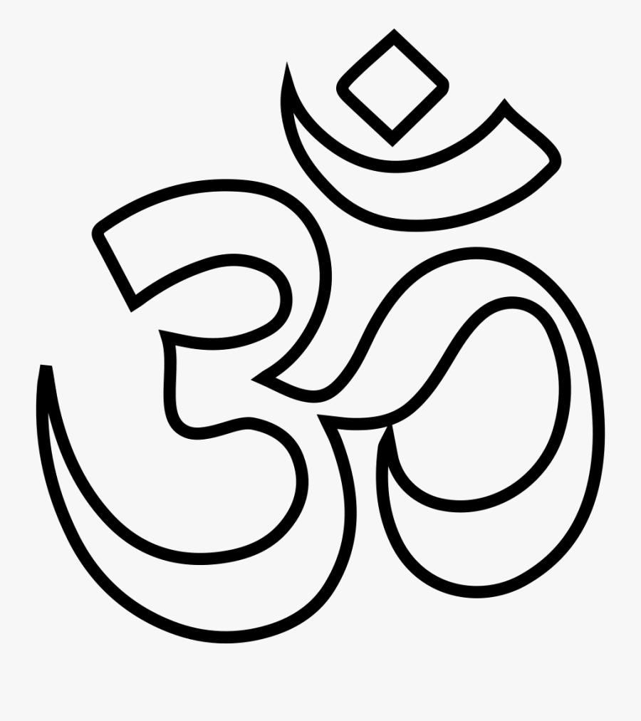 Ganesha Om Drawing Hinduism Symbol - Simbolo Om, Transparent Clipart