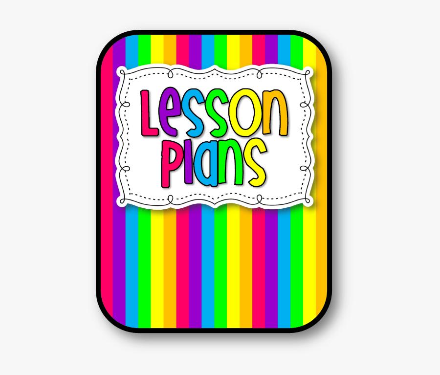 Rainbow Cover Lesson Plans Cl - Lesson Planning Lesson Plan Clip Art, Transparent Clipart
