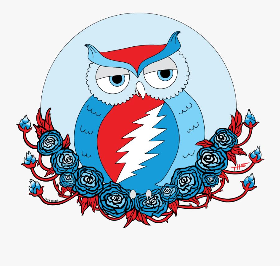 Grateful Dead Steal Your Face Owl, Transparent Clipart