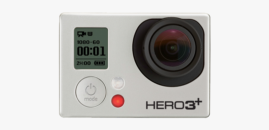 Gopro Hero 3 Camera Png - Point-and-shoot Camera, Transparent Clipart