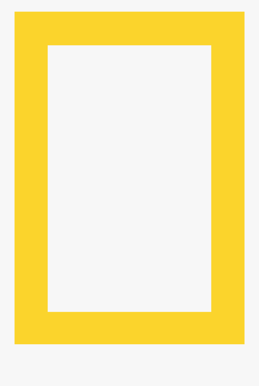 Yellow Square Png - National Geographic Yellow Box, Transparent Clipart