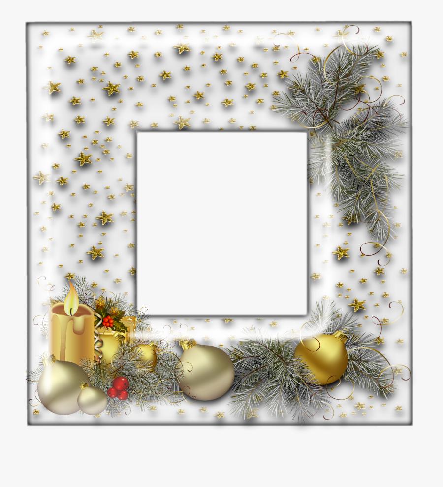 Molduras De Quadros De Natal Rosa, Transparent Clipart