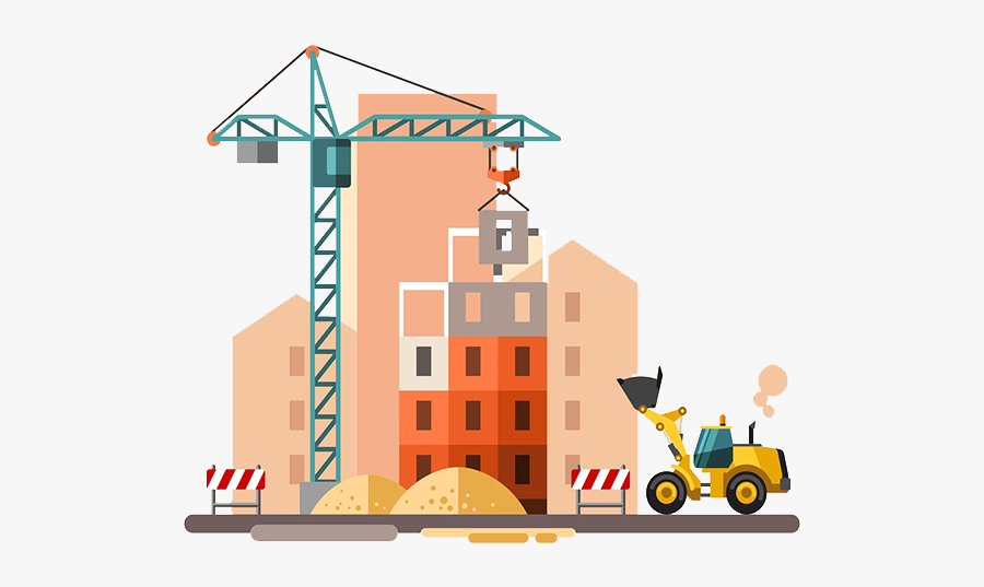 Construction - Construction Site Vector, Transparent Clipart