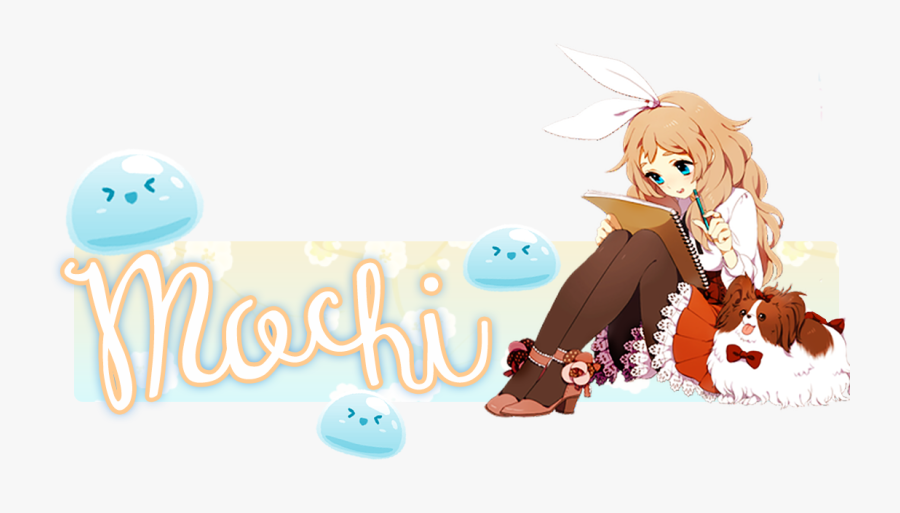 Transparent Mochi Png - Anime Girl With Dog Png, Transparent Clipart