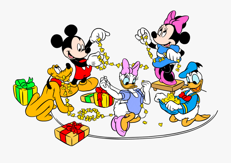Christmas Mouse Clipart Free - Mickey Mouse Minnie Mouse Donald Duck Daisy Duck, Transparent Clipart