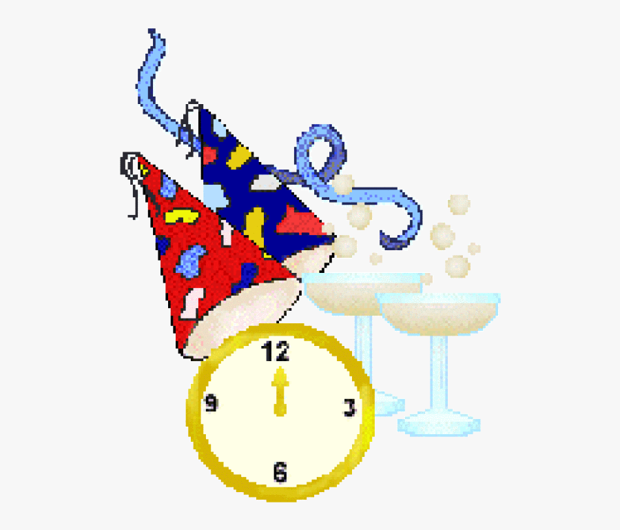 Clip Art Eve New Years Clock Clipart, Transparent Clipart