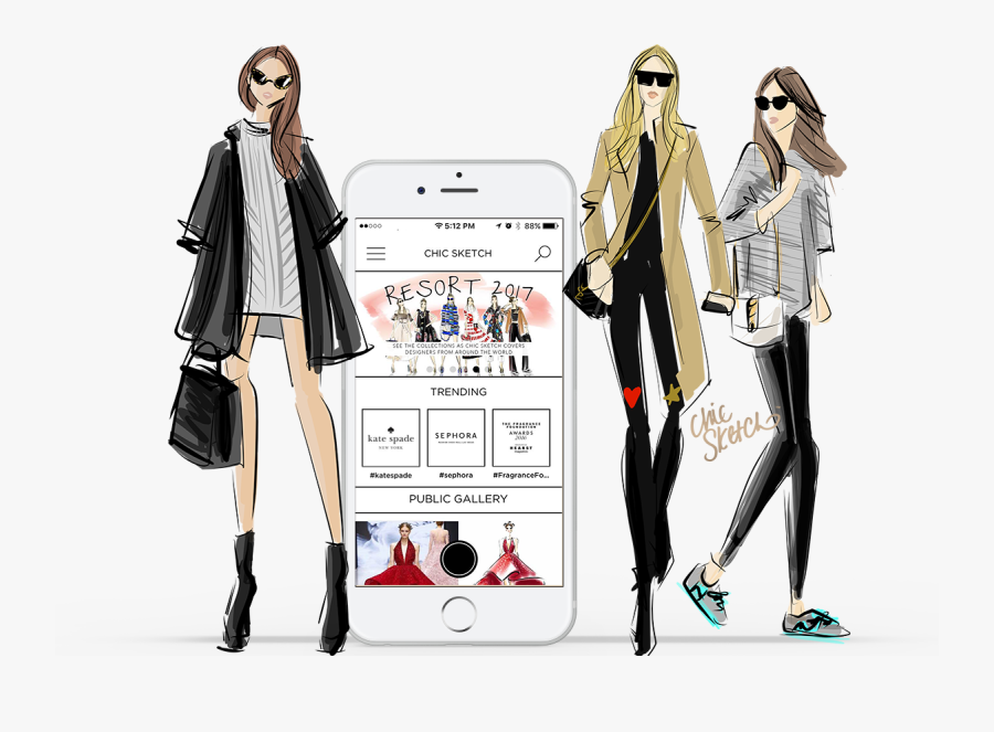 Clip Art Emily Brickel Edelson Published - Fashion Illustration On Illustrator, Transparent Clipart