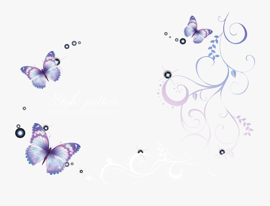 Transparent Lavender Butterfly Clipart - Drawing, Transparent Clipart