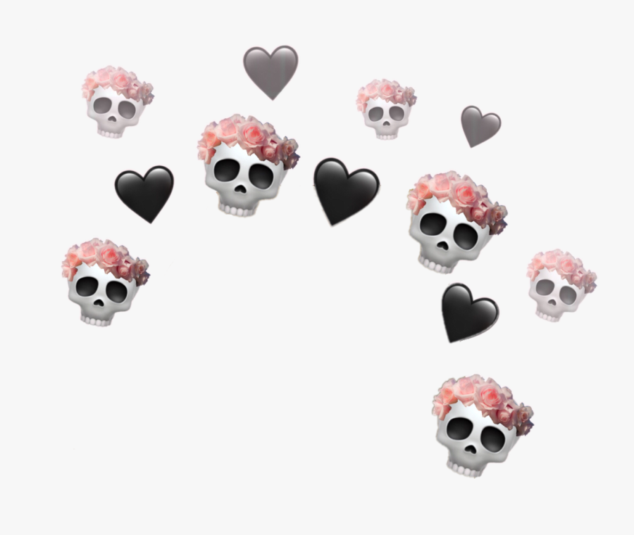 #crown #skulls #flowers #hearts #tumblrcrown #aesthetic - Aesthetic Heart Crown Png, Transparent Clipart