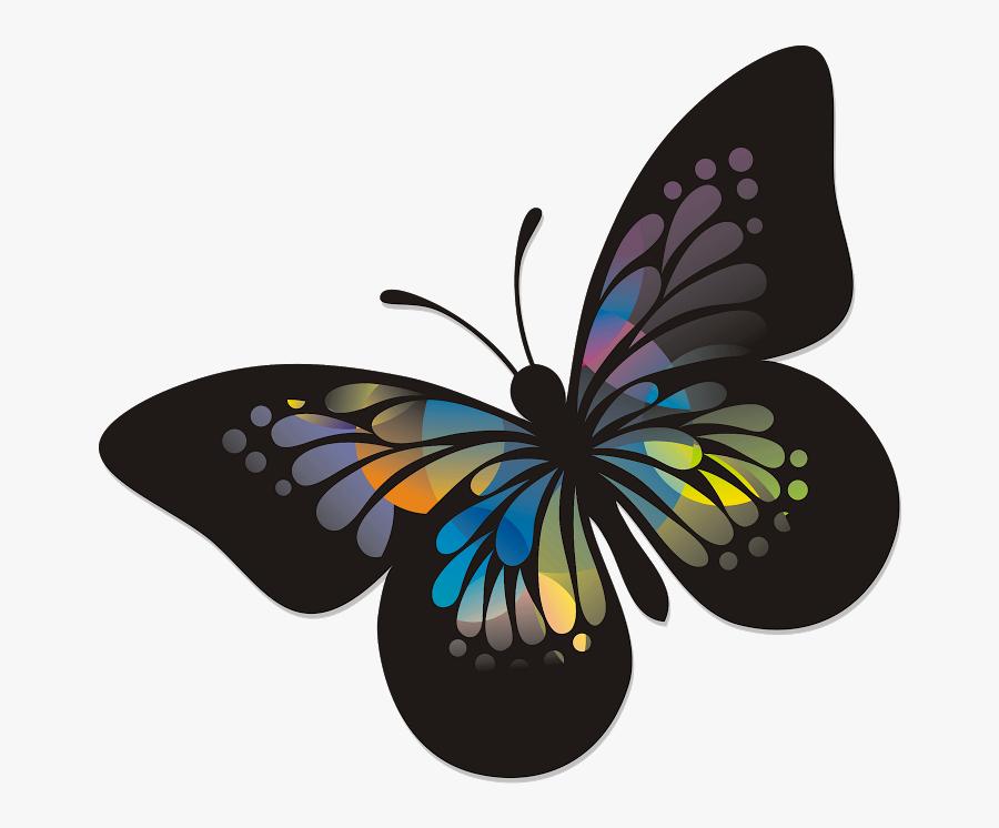 Transparent Rainbow Butterfly Clipart - Walizka Z Poliwęglanu Opinie, Transparent Clipart