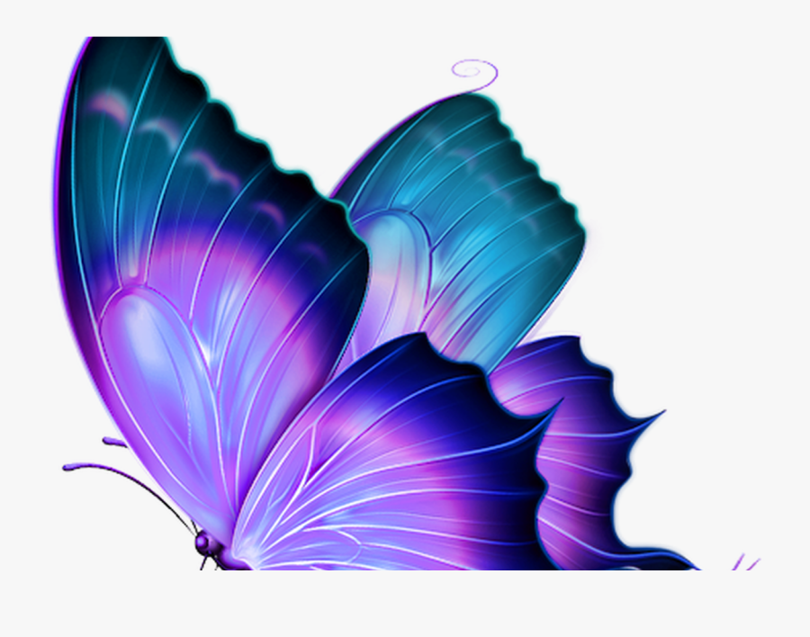 Transparent Purple Butterfly Png - Butterfly Stickers For Picsart, Transparent Clipart