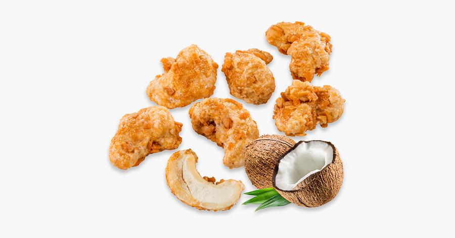 Clip Art Panned Chicken - Glazed Coconut Cashews, Transparent Clipart