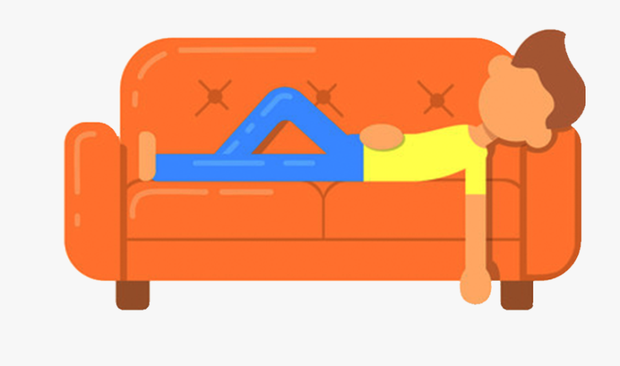 Transparent Cartoon Couch Png - Cartoon Person Lying On Couch, Transparent Clipart