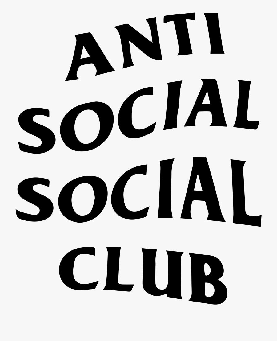 Anti Social Social Club Transparent - Anti Social Social Club Psd, Transparent Clipart