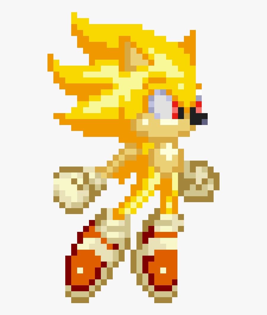 Sonic Sprite Png Clip Art - Modern Super Sonic The Hedgehog, Transparent Clipart
