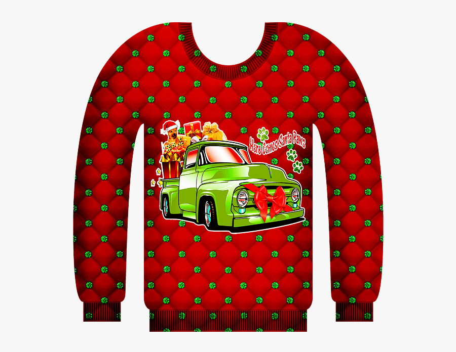 Ugly Holiday Sweater Clipart, Transparent Clipart