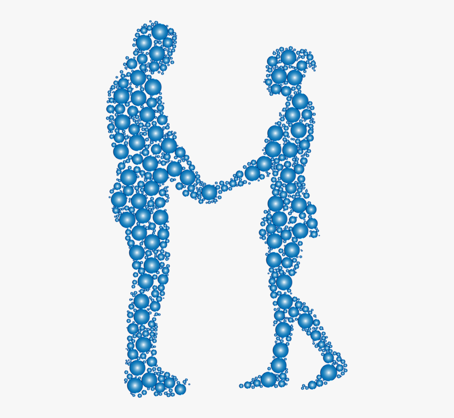 Blue,line Art,turquoise - Couple Silhouette Holding Hands Png, Transparent Clipart