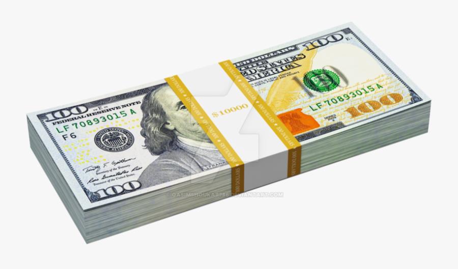Transparent Stack Of 100 Dollar Bills Png, Png Download - 100 Us Dollar, Transparent Clipart