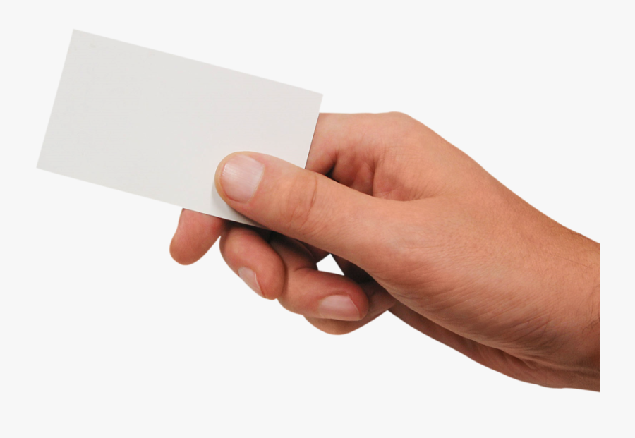 Transparent Hand Of Cards Clipart - Hand Holding Business Card, Transparent Clipart