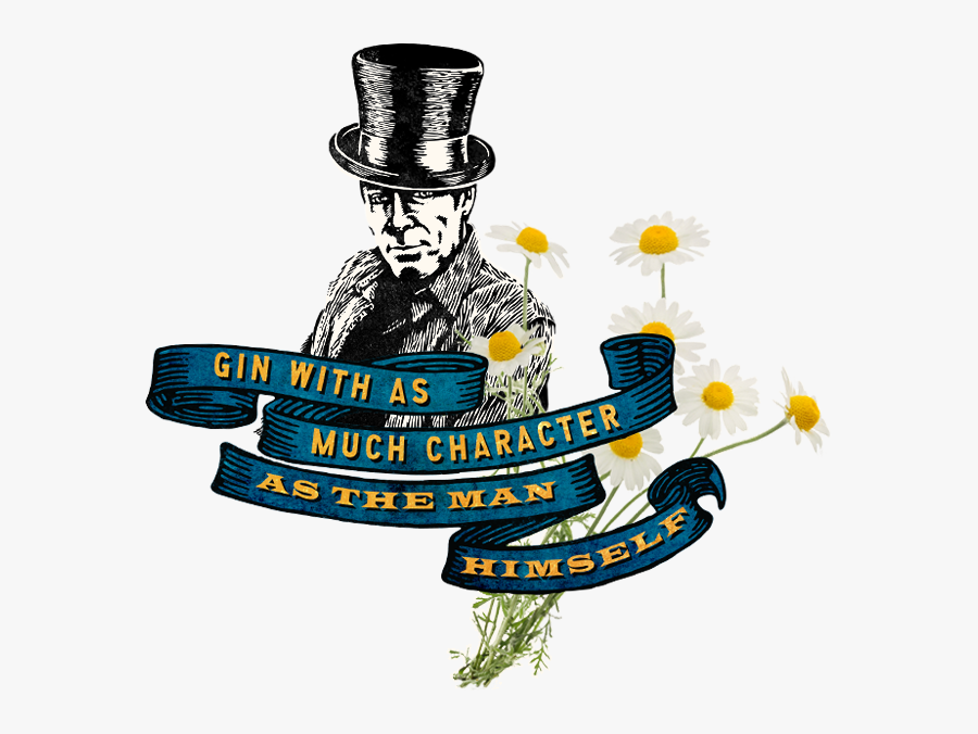 Blue Ribbon Banner And Daisy Flowers With The Words, - Sonoma Graton Gin, Transparent Clipart