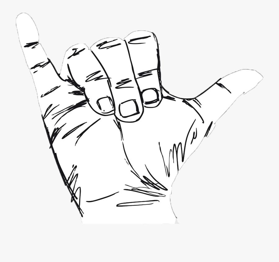 Shakka Hand Gesture - Hand Y Sign, Transparent Clipart