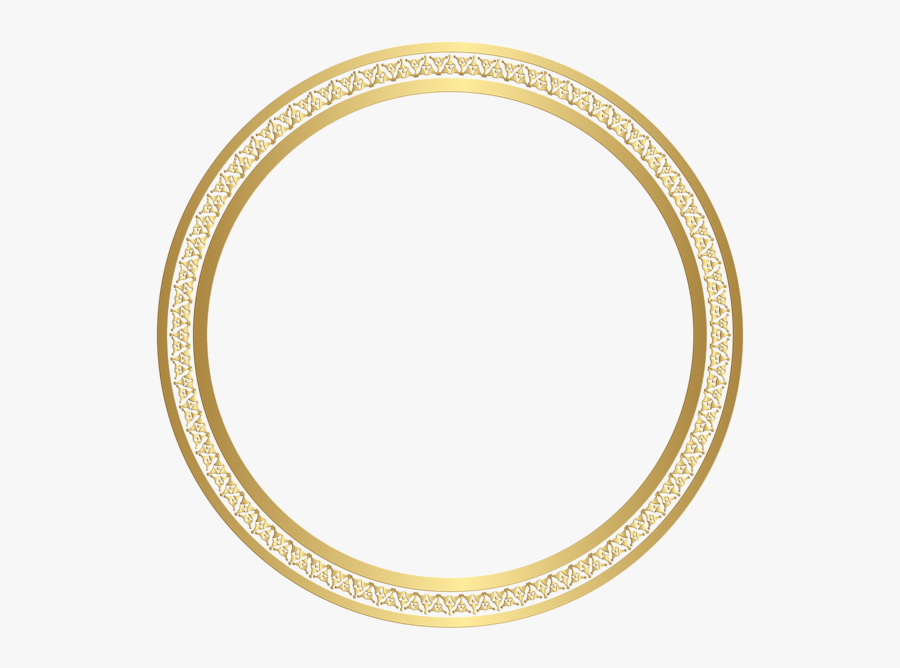 Gold Circle Frame Png, Transparent Clipart
