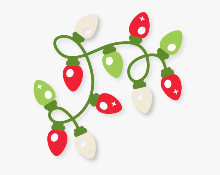 Christmas Lights Border Clip Art Free - Cute Christmas Lights Clipart, Transparent Clipart