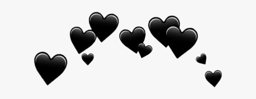 #heart #heartcrown #crown #tumblr - Black Hearts Transparent Background, Transparent Clipart