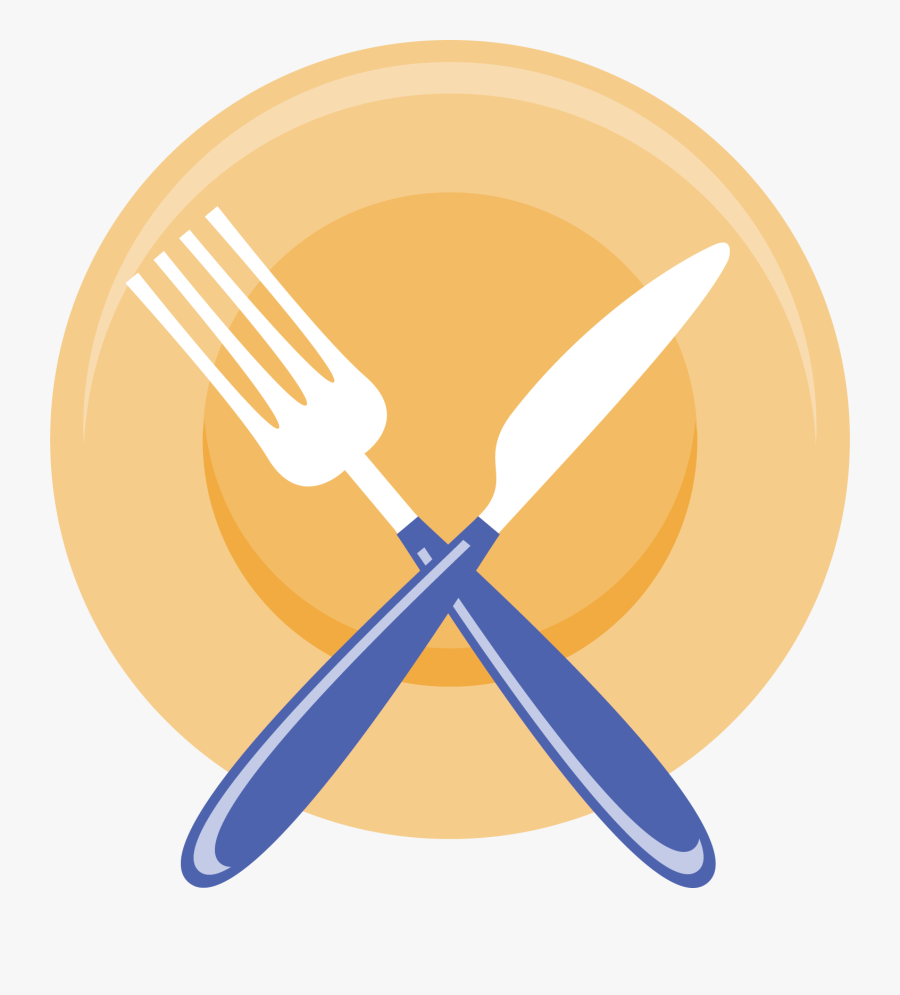 Knife Fork Computer File - Plate And Fork Clipart, Transparent Clipart
