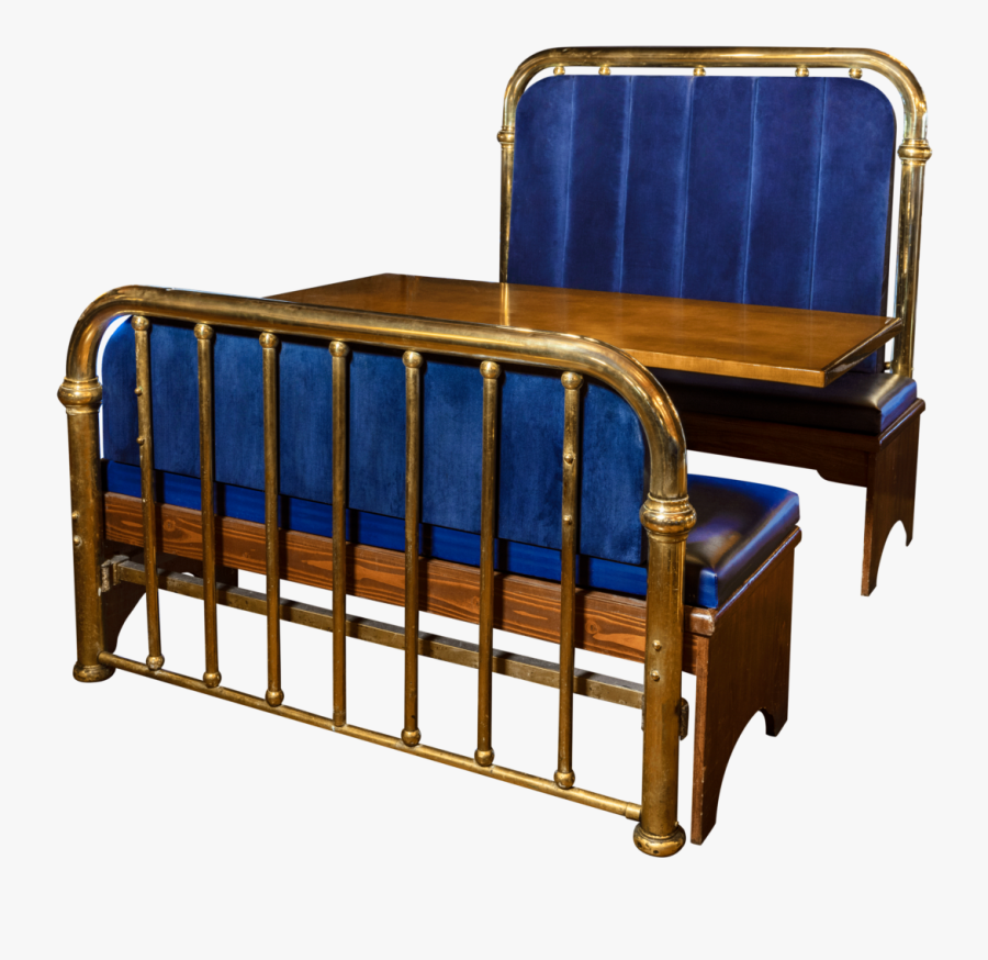 Blue Bed Frame Booth - Chair, Transparent Clipart