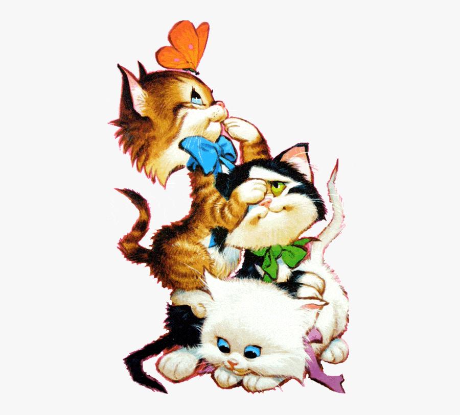 494 Views Kitten Cartoon, Cat Clipart, Kitten Images, - Cats Funny Clipart, Transparent Clipart