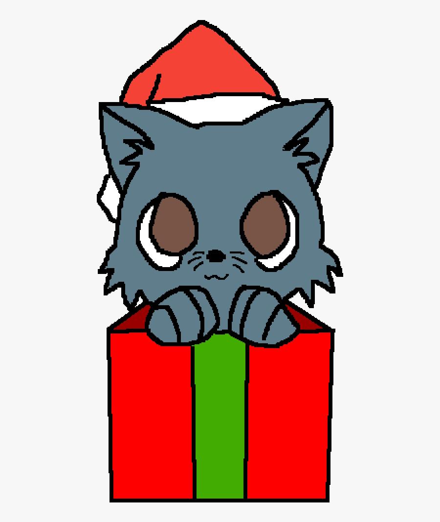 Cute Cartoon Christmas Cats, Transparent Clipart