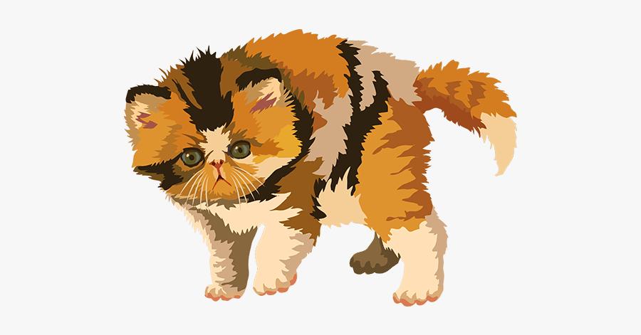 Cat Art, Stickers Messages Sticker-4 - Kitten, Transparent Clipart