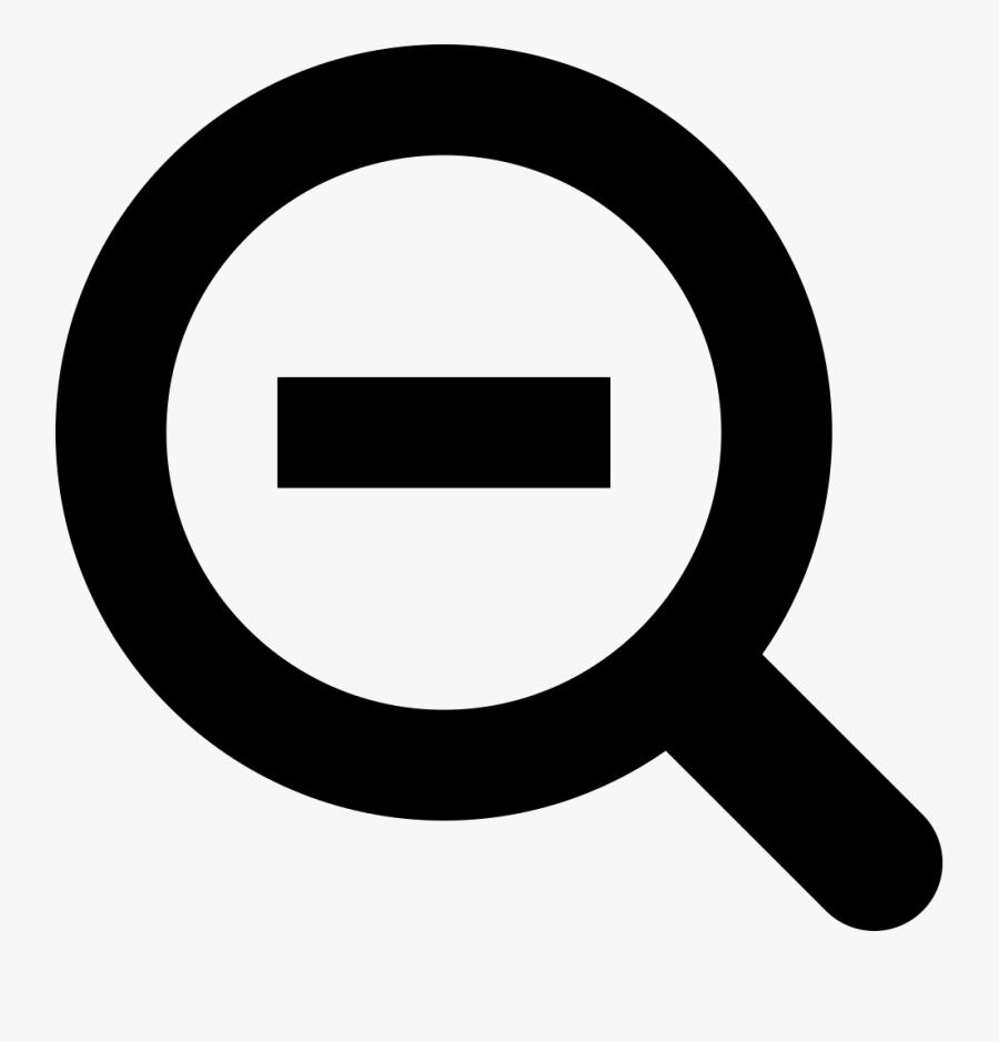 Zoom Decreasing Button Symbol Comments - Zoom Out Button Icon, Transparent Clipart