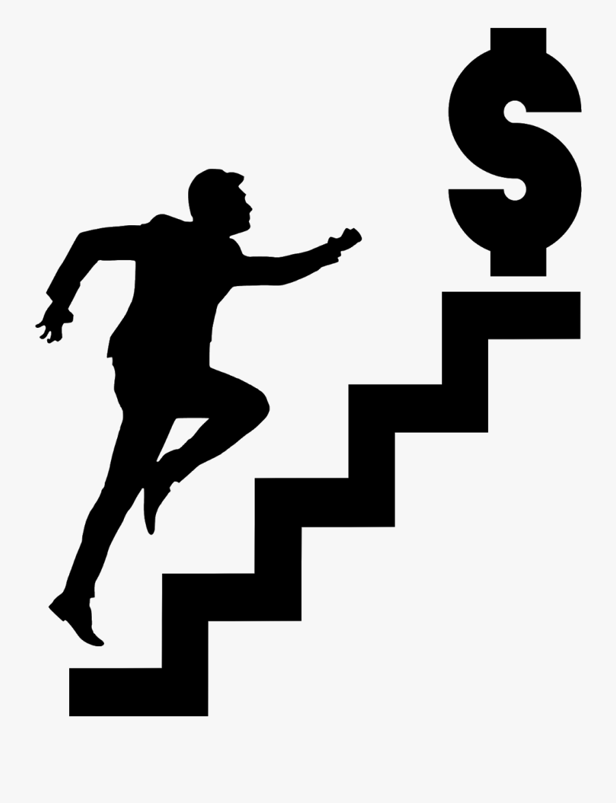 Illustrations Of Money Stairs Silhouette - Way To Ground Floor Signages, Transparent Clipart