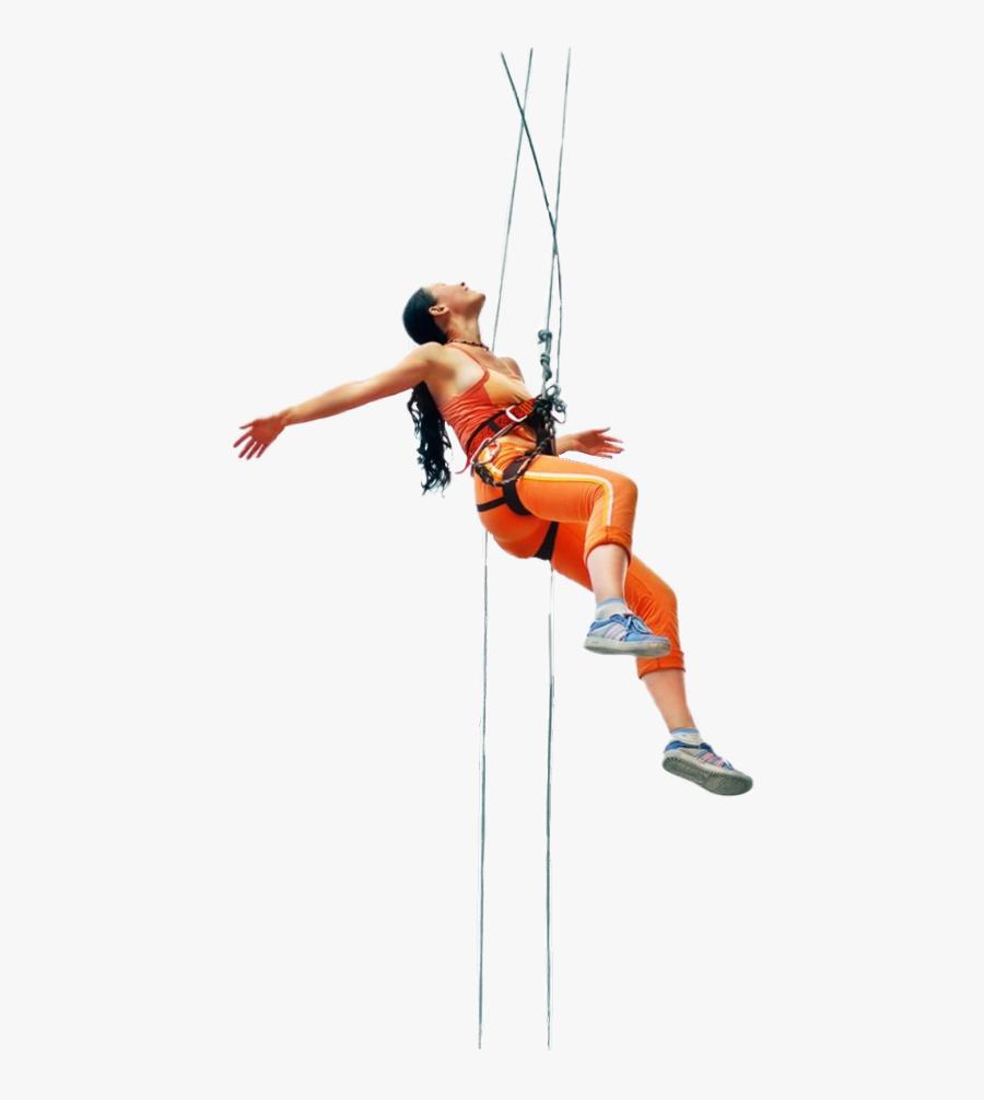 Freetoedit Climbing Bungeejumping - Rock Climbing People Png, Transparent Clipart