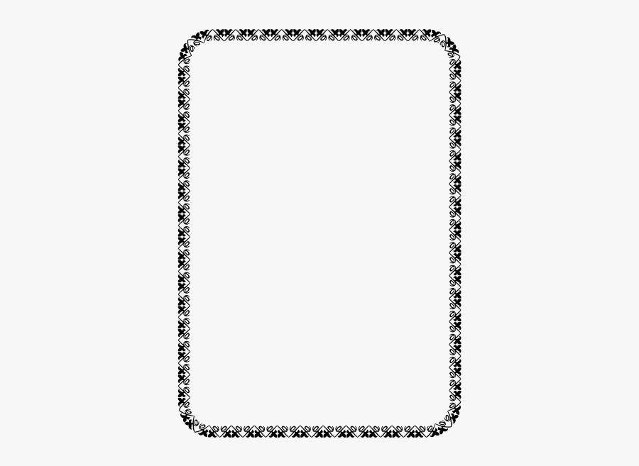 Floral Border - Page Frame Design Png, Transparent Clipart