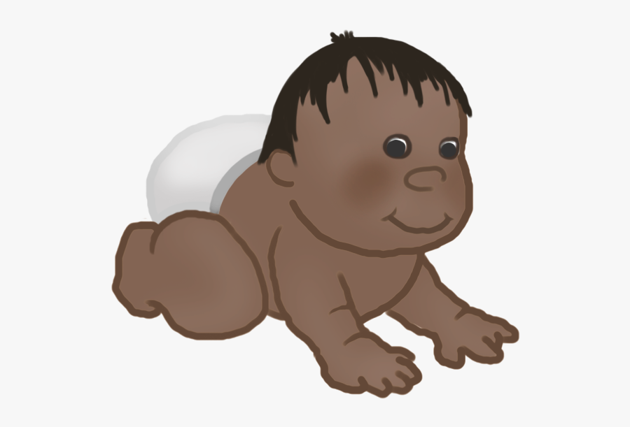 Baby Clipart Crawling Baby - Cartoon, Transparent Clipart