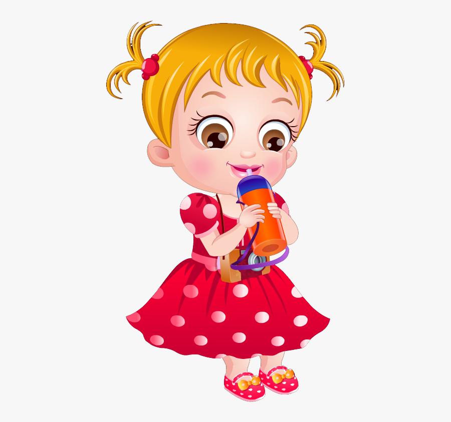 Girl Drinking Orange Juice Clipart, Transparent Clipart