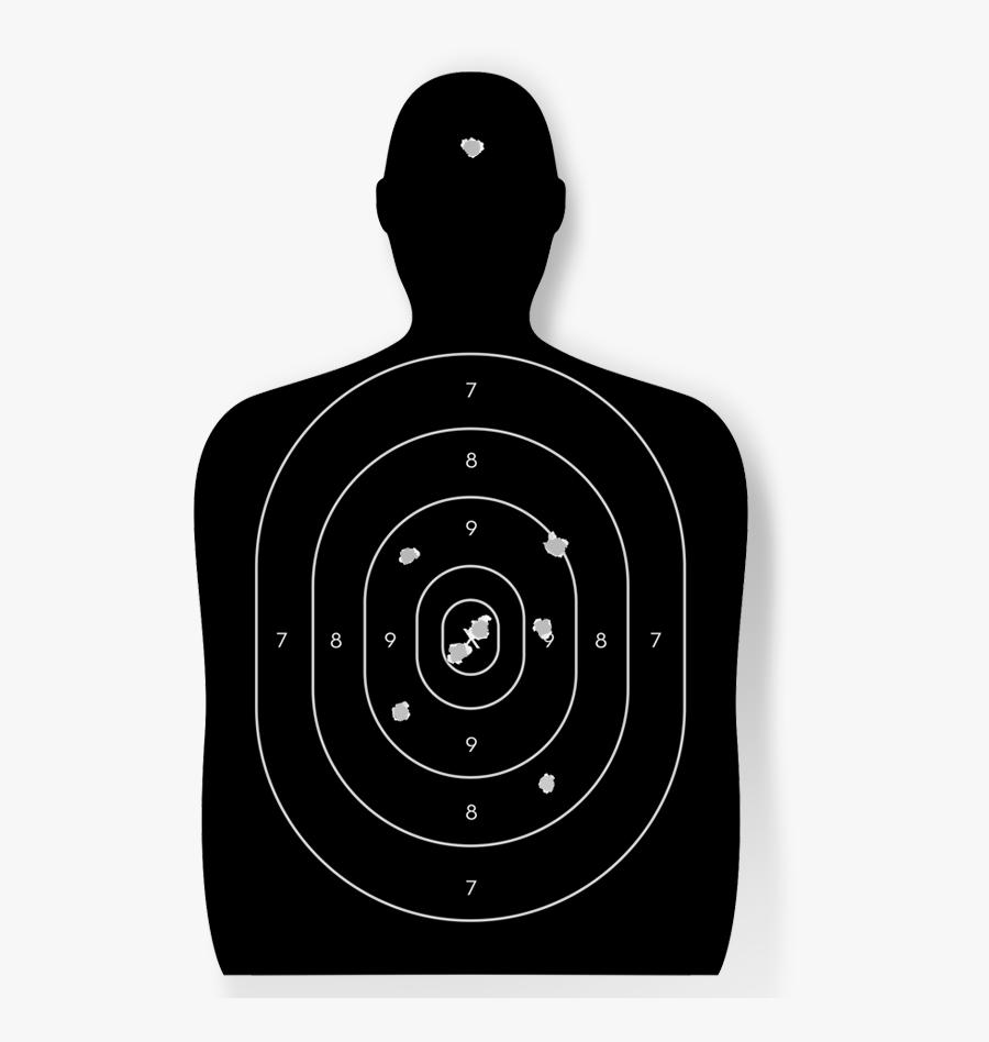 Shooting Target Stock Photography Bullet Royalty-free - Human Shooting Range Target, Transparent Clipart