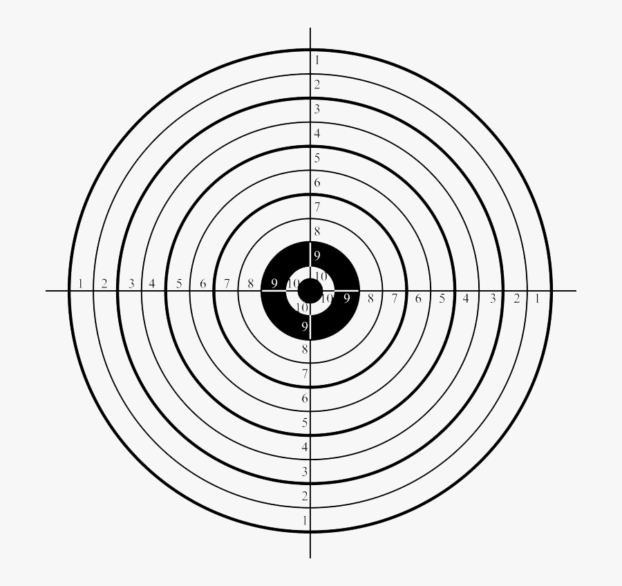 Shooting Target Shooting Sport Shooting Range Clip - Printable Shooting Target, Transparent Clipart